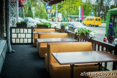 Кафе Пскова с летними террасами. СПИСОК
