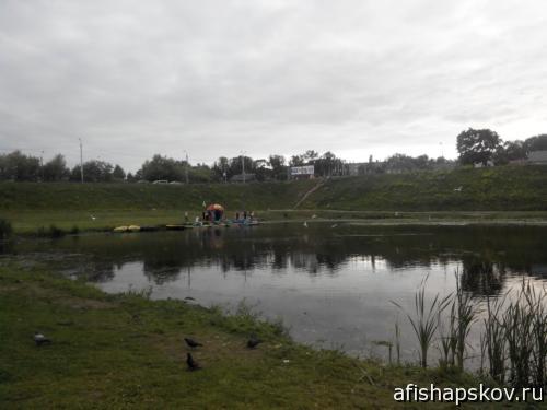 Прокат катамаранов работает на реке Мирожке у дамбы