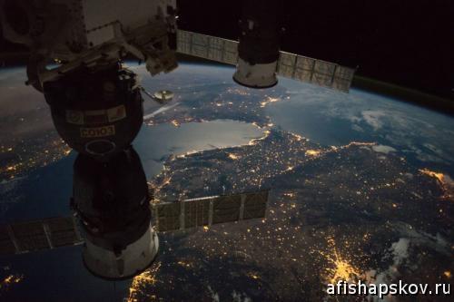 Гибралтар из космоса