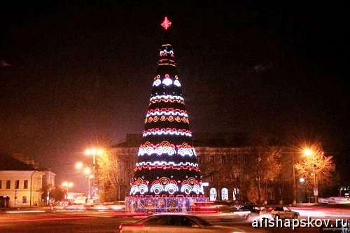 Новогодняя ёлка Псков
