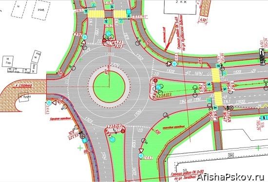 Реконструкция улицы Кузбасской дивизии псков