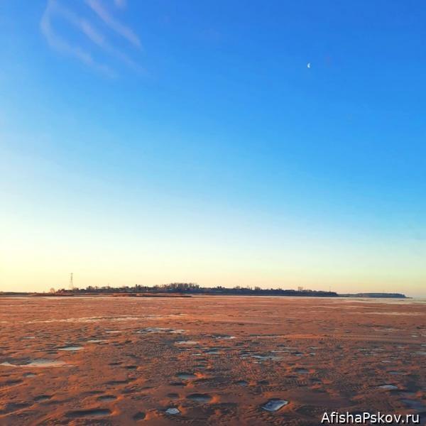 Псковское озеро мелеет